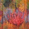 Dawn Thrasher - Red Bush Triptych